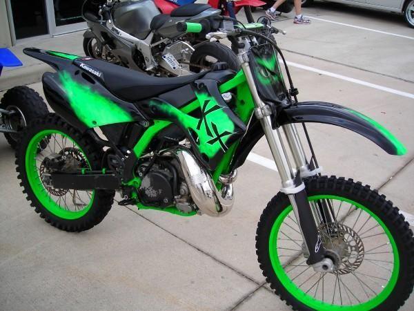Custom Kx250 Incredible Hulk Cool Custom Dirt Bikes