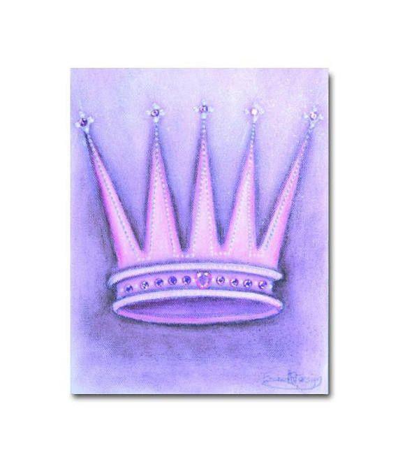 Princess Purple Crown Baby Girl Nursery Princess Decor Girl