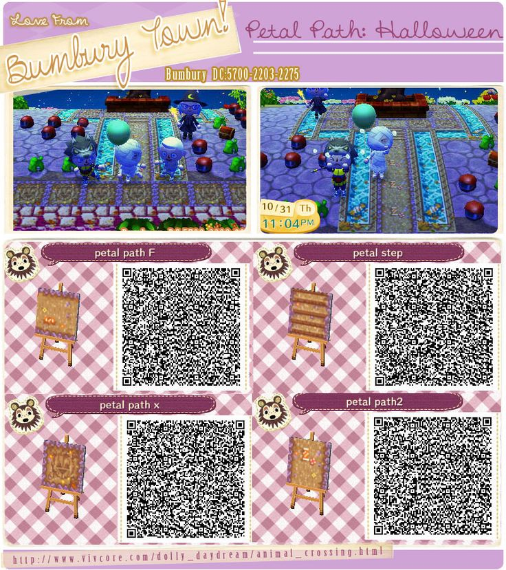 Animal crossing new leaf qr code paths pattern for Floor qr codes new leaf