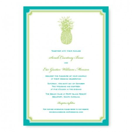 Pineapple Wedding Invitations