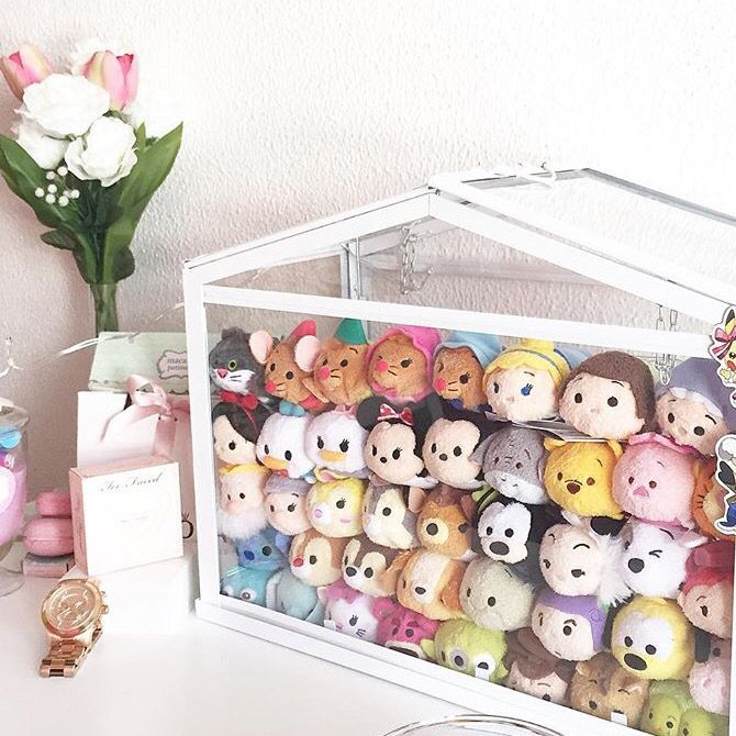 Lovely display of tsum tsums, I believe this is the greenhouse from ikea