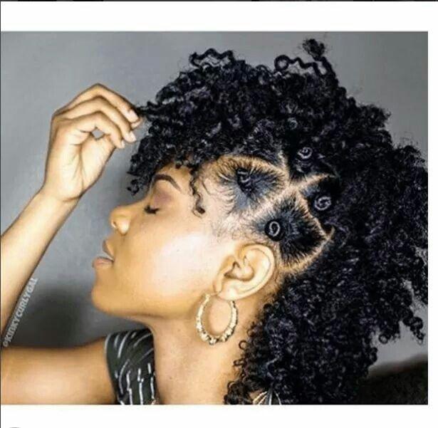 Chic & Edgy Bantu Knot Mohawk...See Tutorial Here: http://www.naturalhairmag.com/bantu-knot-mohawk/ IG:@kinkycurlygal  #naturalhairmag #naturalhair