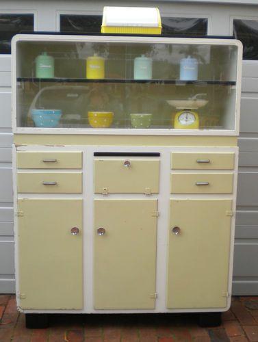 Gorgeous Vintage Retro Deco Kichenette Kitchen Dresser Storage Perth   eBay