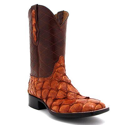 Men 39 s black jack pirarucu fish cognac boot at maverick for Pirarucu fish boots