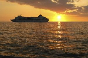 The cruise ship, The Jakarta, in the Indonesian Islands