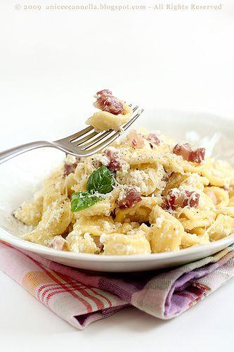 Orecchiette Ricotta e Pancetta