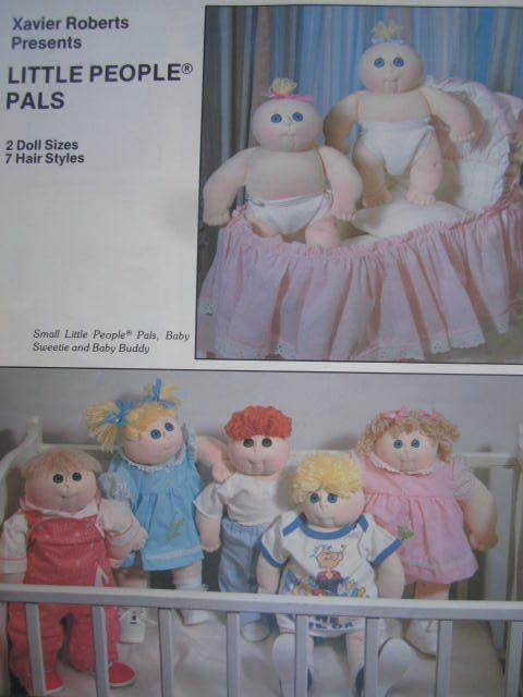 See Sally Sew-Patterns For Less - Little People Pals Dolls Xavier Roberts Presents Craft Sewing Doll Pattern
