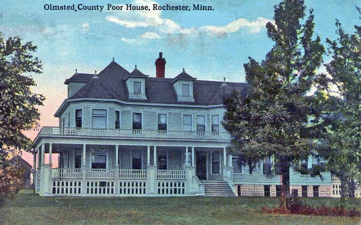 Olmsted County Poor House, Rochester Minnesota, 1915