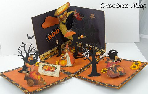 Exploding box Halloween....this is so cool!  I want to make and send one to my missionary son next year!