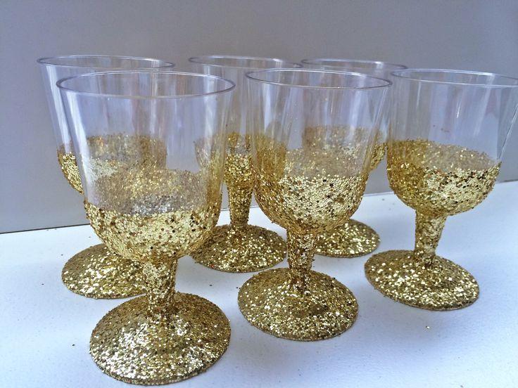 sale 6 disposable plastic wine glasses wedding cups wine glasses custom wine glass - Glass Decorations