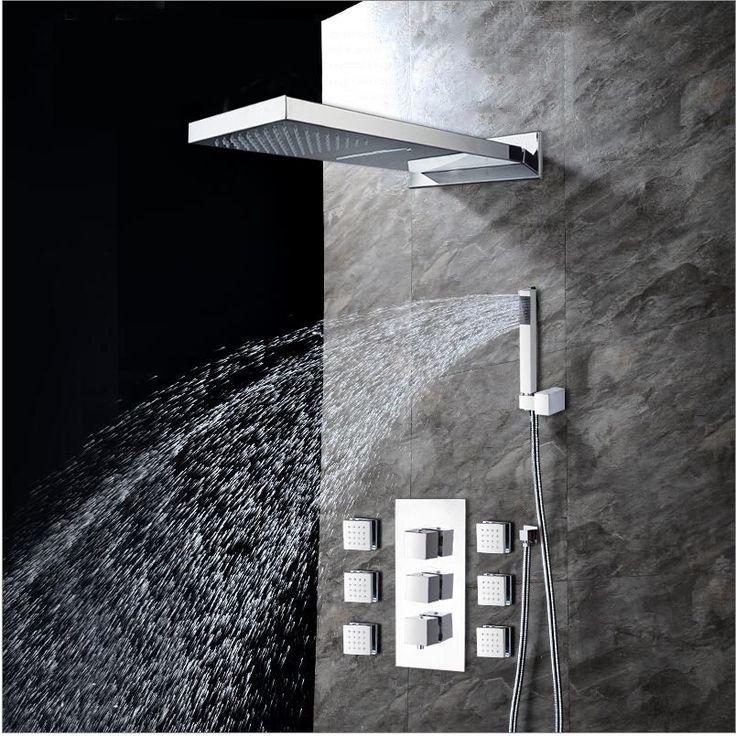 best shower faucet sets. Bathroom Wall Mounted Rainfall Shower Head Handshower 6 Body Sprays  Set 9 best Tap images on Pinterest showers Rain