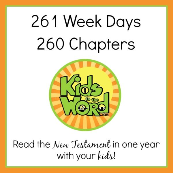 You can read the New Testament in one year if you read one chapter each week day. Read it with you kids. Click through to get a FREE blank Bible reading journal for the Gospel of Matthew at kidsintheword.net.