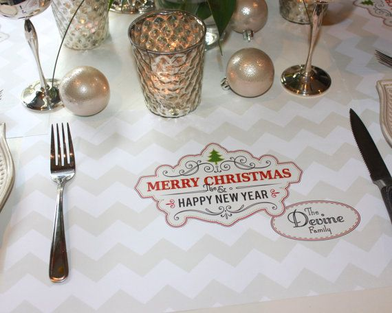 Personalized Paper Placemats Christmas Holidays By TIPgifts