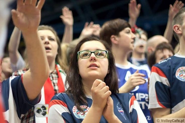 Volleyball fans during Polish Cup 2015/2016 in Wrocław #volleyball #supporters #ZAKSA