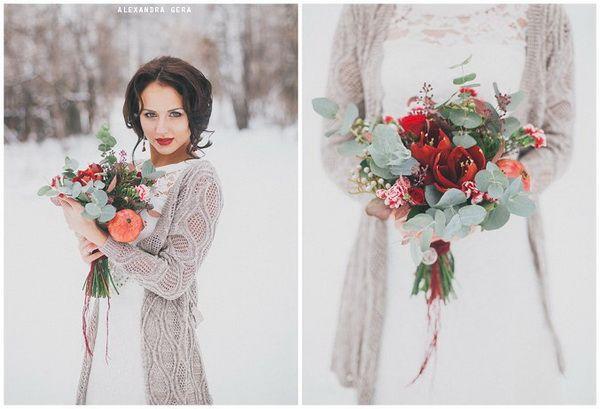 зимний образ невесты #wedding #bride #flowers