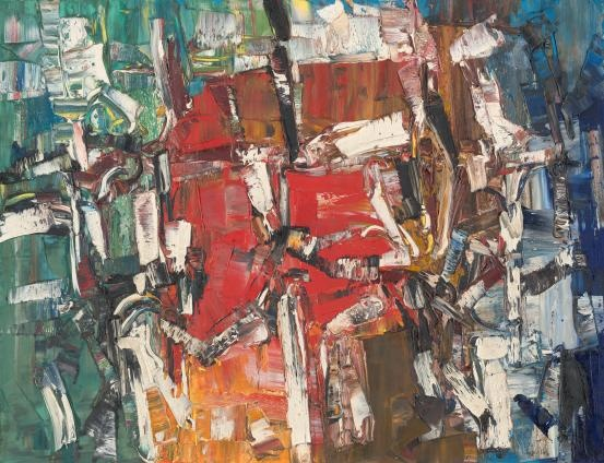 Thunderbird / Jean-Paul Riopelle / 1957 / oil on canvas / NGV
