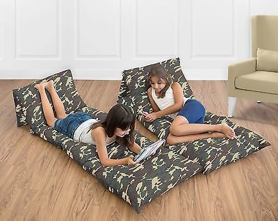Bedroom Playroom and Dorm D cor 115970: Floor Pillow Case Lounger Green Brown Camo Kids Teen Pillowcase Cushion Cover -> BUY IT NOW ONLY: $39.99 on eBay!