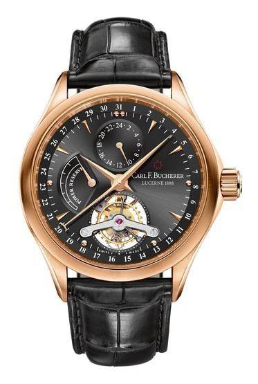 00.10918.03.33.01 Carl F.Bucherer Manero Tourbillon Limited Edition - швейцарские мужские наручные часы - золотые, черные - турбийон