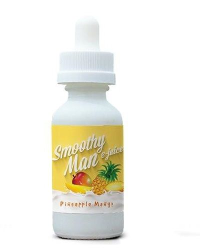 Smoothy Man E-Liquids – Pineapple Mango – 60ml – 70VG  Juicy Pineapples blended with sweet mangos giving you the ultimate smoothy experience!   70% VG