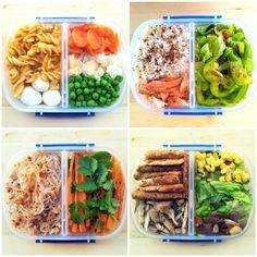 recettes rapides et équilibrées, boîte de déjeuner sain, pasta, oeufs, comment manger équilibré