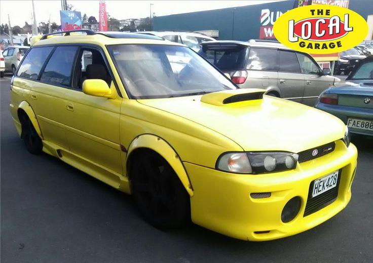 Subaru Legacy making yellow cool