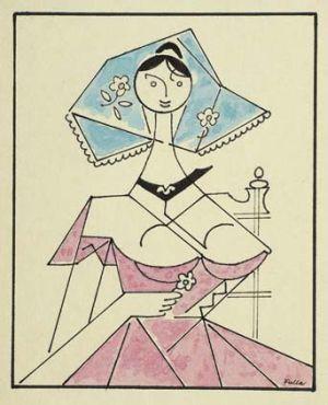 Žena s kvetom Ľ.Fulla
