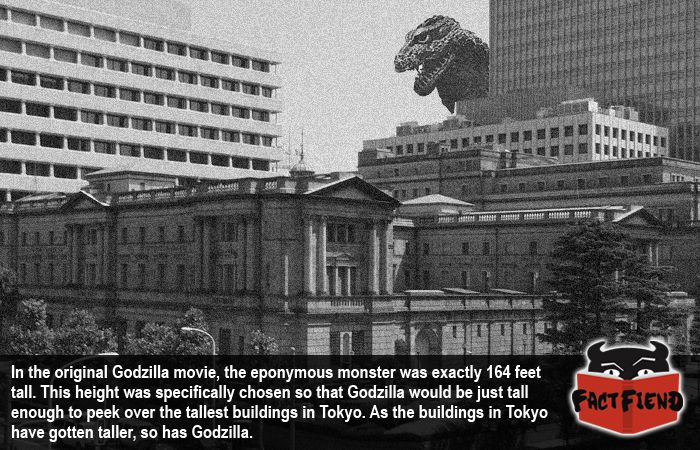 The Adorable Reason Godzilla's Height Keeps Changing - http://www.factfiend.com/godzillas-designed-just-tall-enough-peer-buildings/