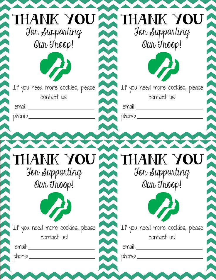 Generic Girl Scout Thank You Notes