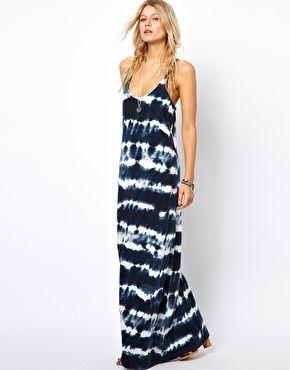Imagen 1 de Vestido largo teñido anudado de Denim & Supply By Ralph Lauren