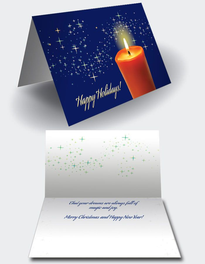 Christmas Card templates in files fully editable in Adobe® Indesign