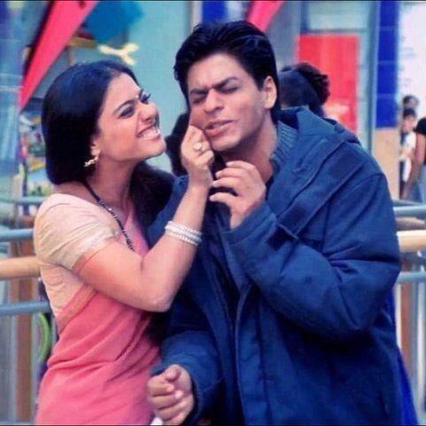 Shahrukh Khan and Kajol in Movie Kabhi Khushi Kabhie Gham.