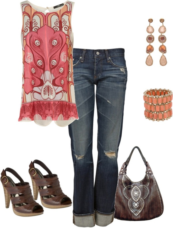 """print shirt"" by yiannab on Polyvore"