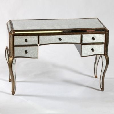 Part of the Antiqued venetian style furniture range this desk dressing table would look stunning in any part of your home available in Silver