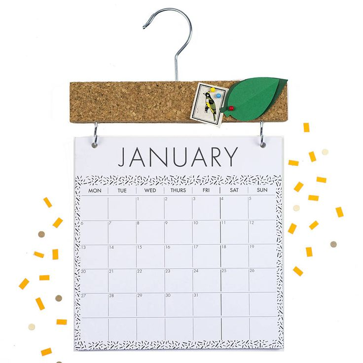 2018 Calendar With Pinboard Topper
