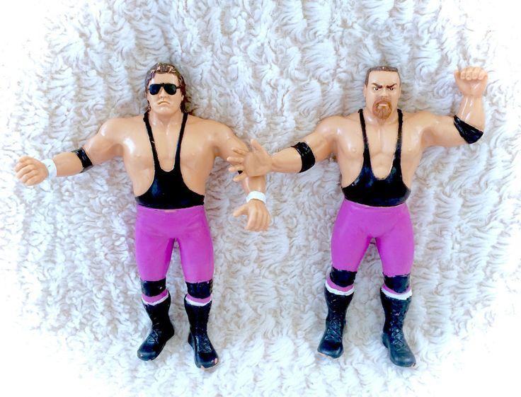 NICE Hart Foundation LJN Vintage Wwf Rubber Wrestlers Tag Team Bret Jim Neidhart | eBay
