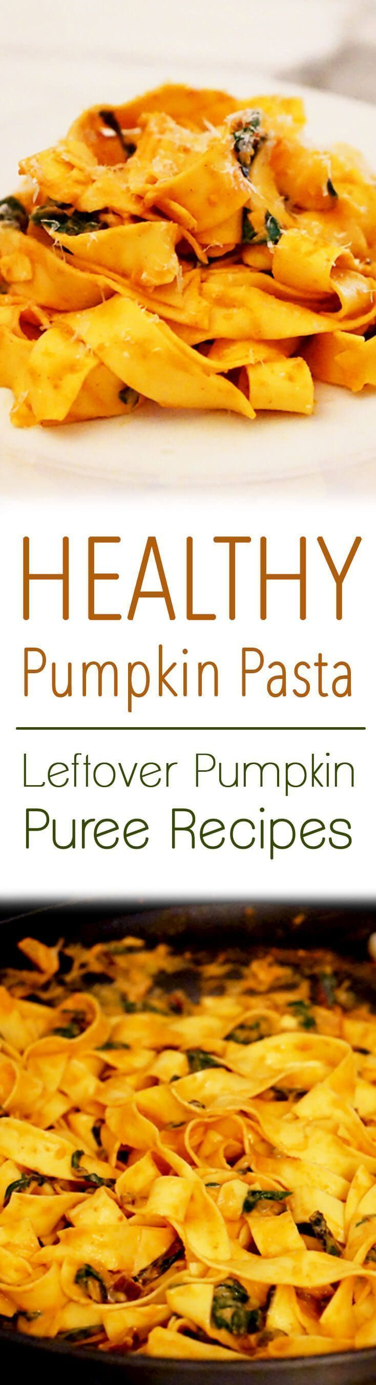 This healthy pumpkin pasta with chipotle peppers is a great way to use up leftover canned pumpkin puree after the holidays.