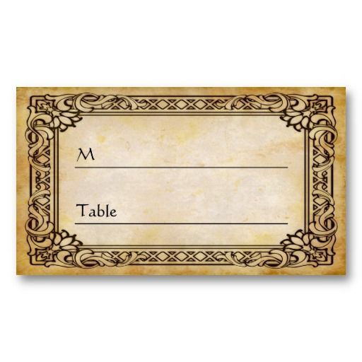 35 best images about table place cards menus on pinterest printable place cards wedding. Black Bedroom Furniture Sets. Home Design Ideas