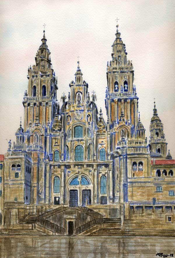 Preciosa composición de la Catedral de #SantiagoDeCompostela #Galicia #SienteGalicia     ➡ Descubre más en http://www.sientegalicia.com/