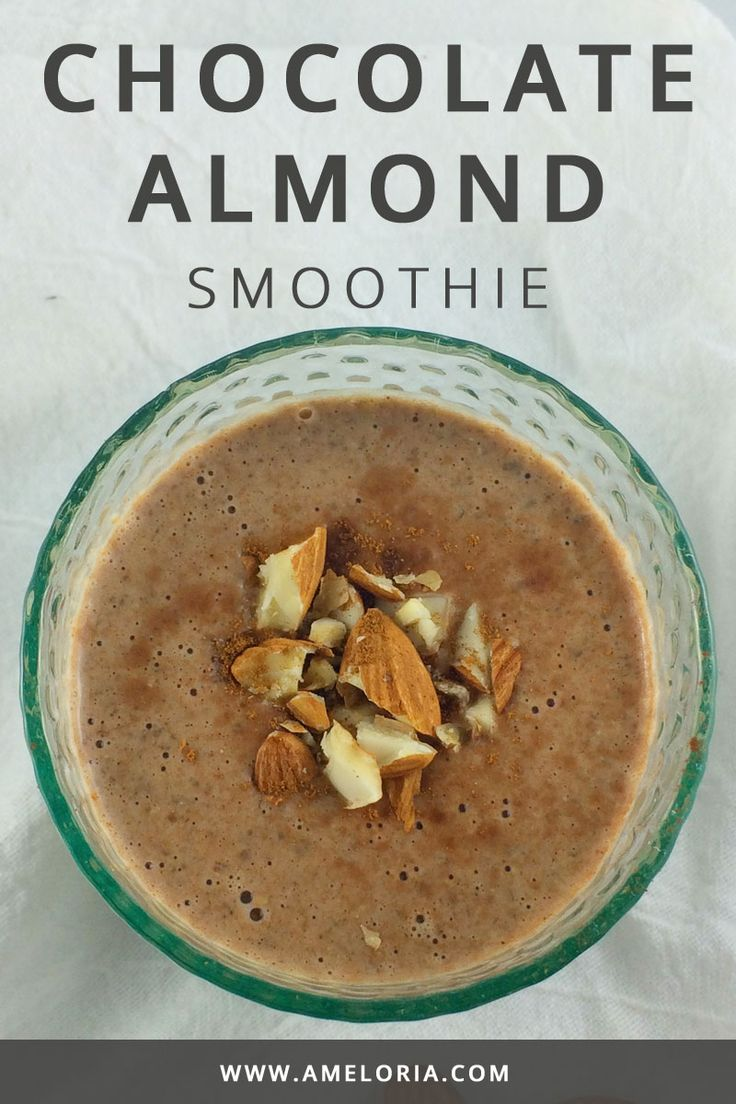 Breakfast Smoothie with cocoa, whey, almond milk and cinnamon. | Ameloria Wellness