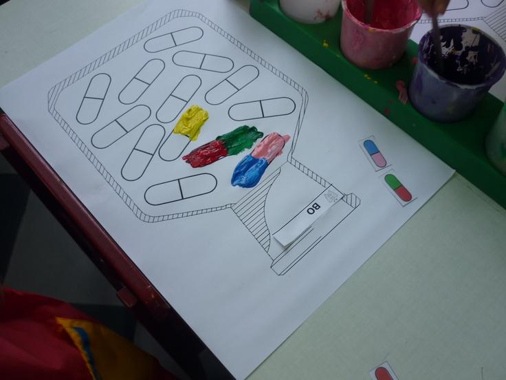 pilletjes schilderen (juiste kleurcombinaties)