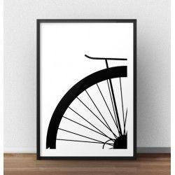 Plakat z fragmentem koła roweru miejskiego