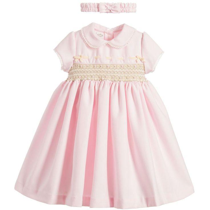Pretty Originals Girls Smocked Dress & Headband at Childrensalon.com
