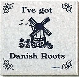 "A unique gift for someone with European roots. This charming quality decorative magnetic tile features the saying: ""I've Got Danish Roots""! - Approximate Dimensions (Length x Width x Height): 3x3x0.25"
