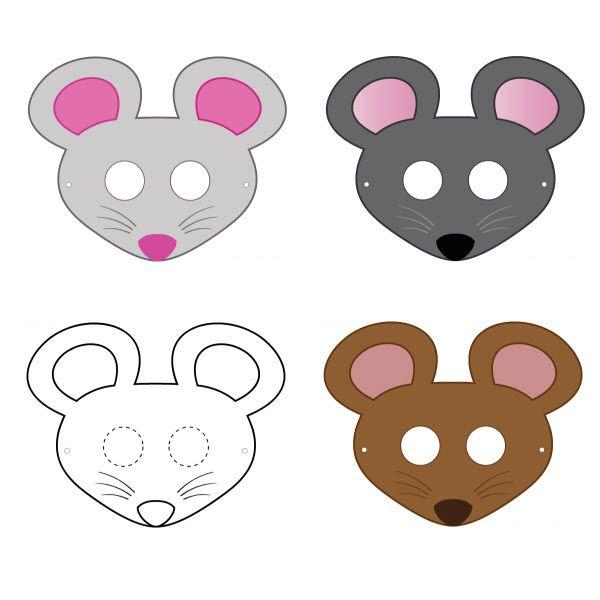 Masque de souris à imprimer