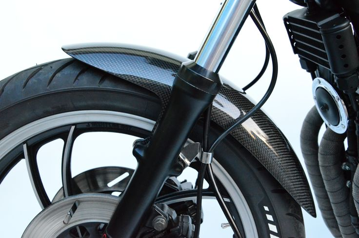 Carbon fiber mudguard selfmade by hbmotorcycles