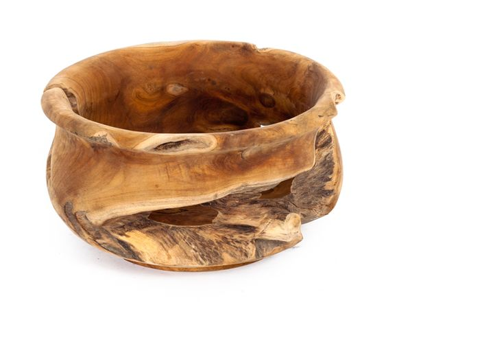 """Kwailie Bowl   #Organic bowl carved from #salvaged teak root   Dia15"""" x H8""""   #teak #bowl #giftidea #dining #homeaccessory"""