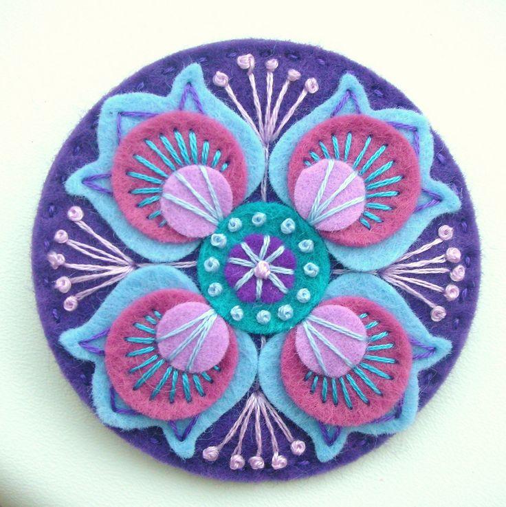DSCN0861 | Marrakesh felt brooch in violet | By: APPLIQUE-designedbyjane | Flickr - Photo Sharing!