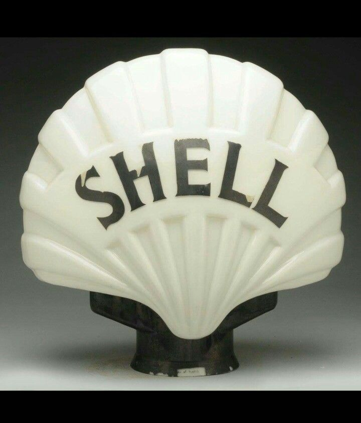 Rare Shell Gas Globe