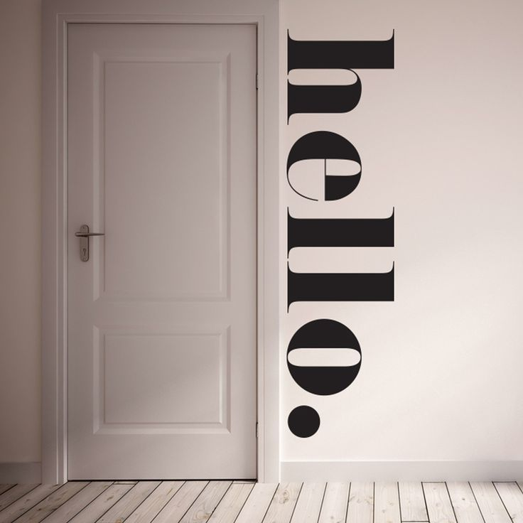 "The HELLO Wall Decal is a fun way to greet your family and guests! Decal is 100% removable. It is best to install on a flat non textured service with egg shell/semi gloss/ gloss paint. To clean use damp cloth and warm water. All of our products are made to order. We do this to insure that you are getting a brand new wall decal.  Material: 100% polyester fabric self adhesive vinyl, HP Latex Inks Size: 16"" x 60"""