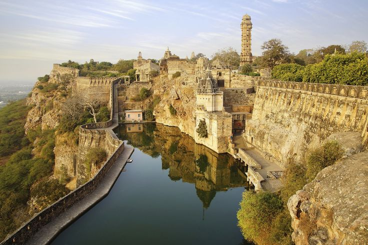 Chittorgarh Fort, India. One of the largest forts in India, Chittorgarh has amazing views, incredible ruins, and tons of history.